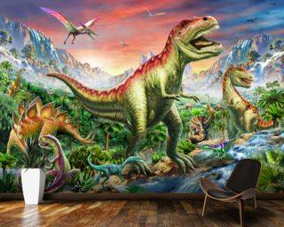Dinosaur Wallpaper Wall Murals Wallsauce