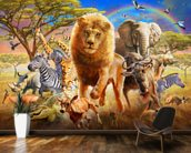 African Stampede wall mural kitchen preview
