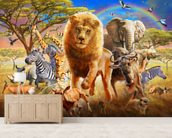 African Stampede wall mural living room preview