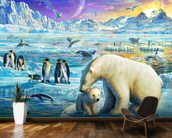 Arctic Sundown wall mural kitchen preview