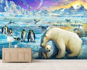Arctic Sundown wall mural living room preview