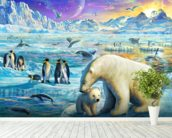 Arctic Sundown wall mural in-room view