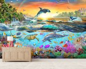 Tropical Paradise wall mural living room preview