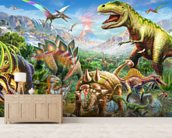 Dino Group wall mural living room preview