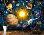Our Solar System wallpaper mural kitchen preview