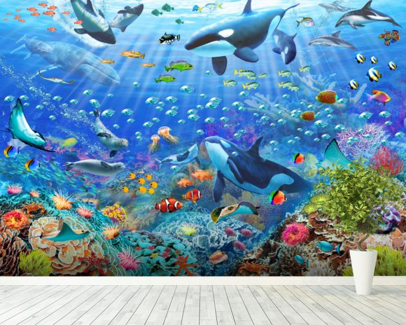 Underwater Wall Mural underwater scene wall mural & underwater scene wallpaper