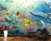 Land and Water Utopia wall mural kitchen preview