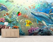 Land and Water Utopia wall mural living room preview