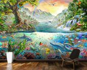 Sea and Land Paradise wallpaper mural kitchen preview