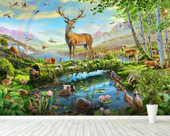 wildlife splendor uk wall mural wildlife splendor uk hand painted mural art wildlife trophy room wall murals