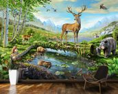 Wildlife Splendor US wallpaper mural kitchen preview