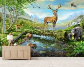 Wildlife Splendor US wallpaper mural living room preview