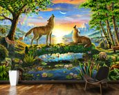 Wolf Harmony mural wallpaper kitchen preview