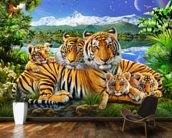 Loving Tigers wall mural kitchen preview