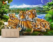 Loving Tigers wall mural living room preview