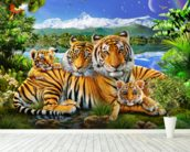 Loving Tigers wall mural in-room view