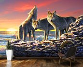 Dawn Hunt mural wallpaper kitchen preview