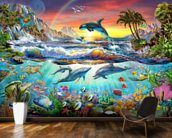 Paradise Cove wall mural kitchen preview