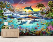 Paradise Cove wall mural living room preview