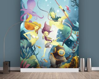 Deep Sea Diver Wallpaper Wall Murals