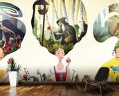 Fairy Tale Princesses wallpaper mural kitchen preview