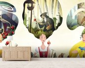 Fairy Tale Princesses wallpaper mural living room preview
