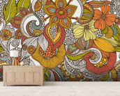 Ava wallpaper mural living room preview