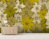 Camo Yellow mural wallpaper living room preview