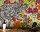 Elephant Puzzle mural wallpaper kitchen preview