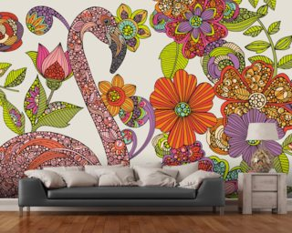 Flamingo Puzzle Wallpaper Wall Murals