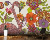 Flamingo Puzzle mural wallpaper kitchen preview