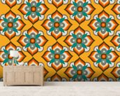 Flowers and Crosses wallpaper mural living room preview
