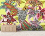 Humminbird Puzzle wallpaper mural living room preview