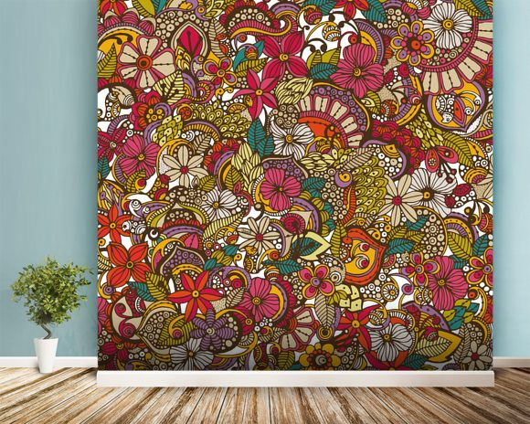 I Spy Colors mural wallpaper room setting