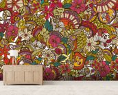 I Spy Colors mural wallpaper living room preview