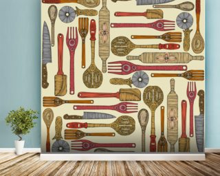 Lets Cook Wallpaper Wall Murals