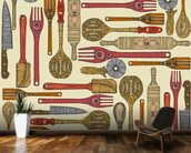 Lets Cook wall mural kitchen preview