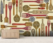 Lets Cook wall mural living room preview