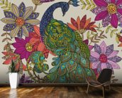 Peacock Puzzle wall mural kitchen preview