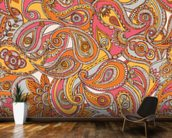 Spring Paisley mural wallpaper kitchen preview