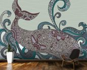 Whale wall mural kitchen preview