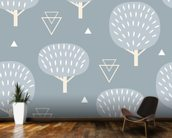 Cool Winter Woodland wall mural kitchen preview