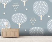 Cool Winter Woodland wall mural living room preview