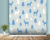 Snowbound Deer wallpaper mural in-room view