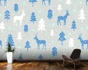 Snowbound Deer wallpaper mural kitchen preview