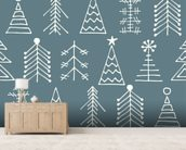 Fir Trees wall mural living room preview
