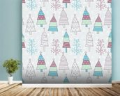 Cute Christmas Trees wall mural in-room view