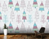Cute Christmas Trees wall mural kitchen preview