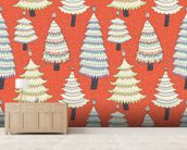 Christmas Tree Forest wall mural living room preview