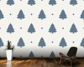 Christmas Tree Forest Blue wallpaper mural kitchen preview
